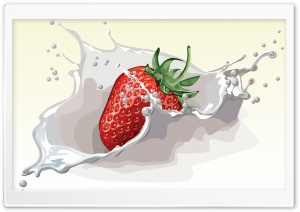 Strawberry Splash Ultra HD Wallpaper for 4K UHD Widescreen desktop, tablet & smartphone