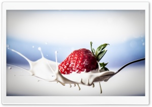 Strawberry Splash HD Wide Wallpaper for Widescreen