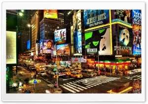 Street Advertising In New York HD Wide Wallpaper for 4K UHD Widescreen desktop & smartphone