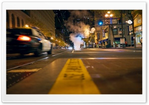 Street At Night HD Wide Wallpaper for 4K UHD Widescreen desktop & smartphone