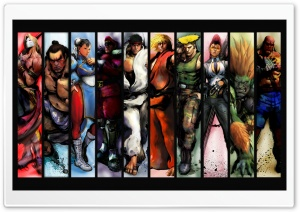 Street Fighter Characters Ultra HD Wallpaper for 4K UHD Widescreen desktop, tablet & smartphone
