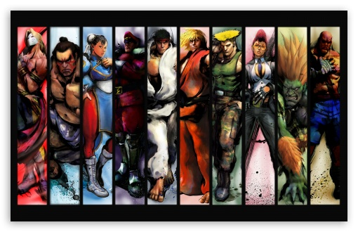 Street Fighter Characters HD wallpaper for Wide 16:10 5:3 Widescreen WHXGA WQXGA WUXGA WXGA WGA ; HD 16:9 High Definition WQHD QWXGA 1080p 900p 720p QHD nHD ; Standard 5:4 Fullscreen QSXGA SXGA ; Mobile 5:3 5:4 - WGA QSXGA SXGA ;
