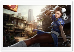 Street Fighter Chun Li HD Wide Wallpaper for Widescreen