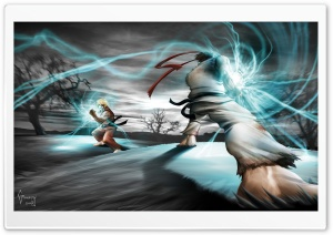 Street Fighter Ryu vs Ken HD Wide Wallpaper for Widescreen