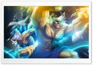 Street Fighter X Tekken - Sagat  Dhalsim HD Wide Wallpaper for 4K UHD Widescreen desktop & smartphone