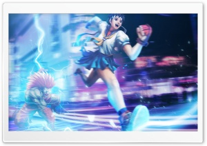Street Fighter X Tekken - Sakura  Blanka HD Wide Wallpaper for Widescreen