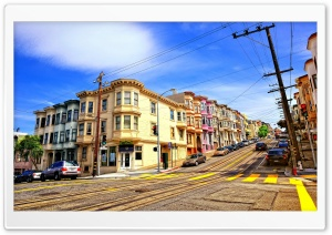 Street In San Francisco HD Wide Wallpaper for 4K UHD Widescreen desktop & smartphone
