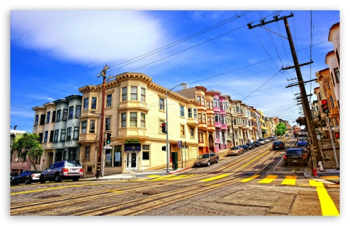 Street In San Francisco HD wallpaper for Wide 16:10 5:3 Widescreen WHXGA WQXGA WUXGA WXGA WGA ; HD 16:9 High Definition WQHD QWXGA 1080p 900p 720p QHD nHD ; UHD 16:9 WQHD QWXGA 1080p 900p 720p QHD nHD ; Standard 4:3 5:4 3:2 Fullscreen UXGA XGA SVGA QSXGA SXGA DVGA HVGA HQVGA devices ( Apple PowerBook G4 iPhone 4 3G 3GS iPod Touch ) ; Tablet 1:1 ; iPad 1/2/Mini ; Mobile 4:3 5:3 3:2 16:9 5:4 - UXGA XGA SVGA WGA DVGA HVGA HQVGA devices ( Apple PowerBook G4 iPhone 4 3G 3GS iPod Touch ) WQHD QWXGA 1080p 900p 720p QHD nHD QSXGA SXGA ; Dual 4:3 5:4 UXGA XGA SVGA QSXGA SXGA ;