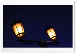 Street Lamp At Night HD Wide Wallpaper for Widescreen