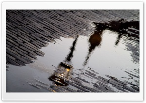 Street Lamp Reflection HD Wide Wallpaper for Widescreen