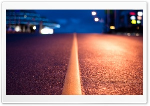 Street Line At Night HD Wide Wallpaper for Widescreen