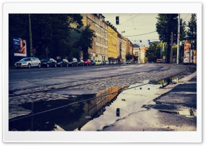 Street Reflection HD Wide Wallpaper for 4K UHD Widescreen desktop & smartphone