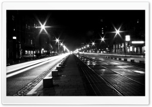 Street View At Night HD Wide Wallpaper for Widescreen