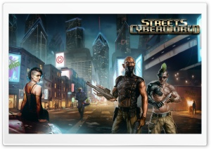 Streets of Cyberworld HD Wide Wallpaper for Widescreen