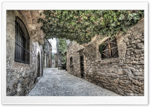 Streets of Mura Catalonia HD Wide Wallpaper for 4K UHD Widescreen desktop & smartphone