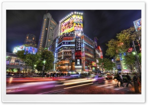 Streets Of Tokyo HD Wide Wallpaper for Widescreen