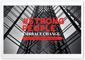 Strong People Quote HD Wide Wallpaper for Widescreen