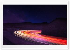 Stunning Light Trails In the Dark Ultra HD Wallpaper for 4K UHD Widescreen desktop, tablet & smartphone