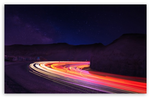 Stunning Light Trails In the Dark HD wallpaper for Wide 16:10 5:3 Widescreen WHXGA WQXGA WUXGA WXGA WGA ; HD 16:9 High Definition WQHD QWXGA 1080p 900p 720p QHD nHD ; Mobile 5:3 16:9 - WGA WQHD QWXGA 1080p 900p 720p QHD nHD ;