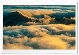 Stunning Sea of Clouds above the Mountains HD Wide Wallpaper for 4K UHD Widescreen desktop & smartphone