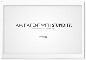 Stupidity HD Wide Wallpaper for 4K UHD Widescreen desktop & smartphone