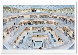 Stuttgart City Library Germany HD Wide Wallpaper for 4K UHD Widescreen desktop & smartphone