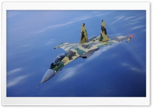 SU-35 Fighter In Air HD Wide Wallpaper for Widescreen