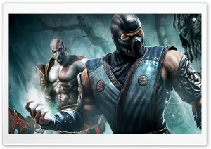 Sub Zero And Kratos HD Wide Wallpaper for 4K UHD Widescreen desktop & smartphone