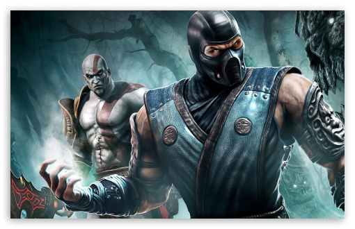 Sub Zero And Kratos HD wallpaper for Standard 4:3 5:4 Fullscreen UXGA ...