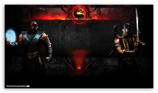 Sub-Zero V.S. Scorpion HD wallpaper for HD 16:9 High Definition WQHD QWXGA 1080p 900p 720p QHD nHD ; Mobile 16:9 - WQHD QWXGA 1080p 900p 720p QHD nHD ;