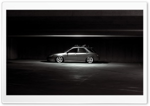 Subaru Impreza In Parking HD Wide Wallpaper for Widescreen