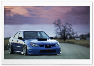 Subaru Impreza WRX Blue HD Wide Wallpaper for Widescreen
