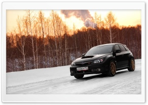 Subaru Impreza WRX On Snow HD Wide Wallpaper for Widescreen