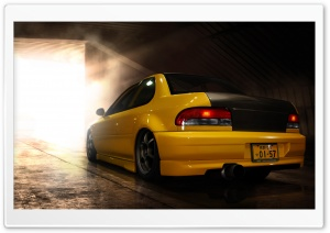 Subaru Impreza Yellow HD Wide Wallpaper for Widescreen