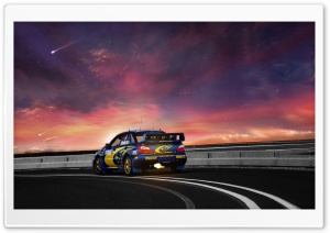 Subaru Road HD Wide Wallpaper for Widescreen