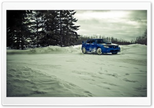 Subaru STI Winter HD Wide Wallpaper for Widescreen