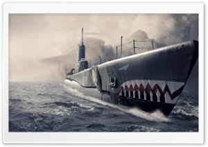Submarine Art HD Wide Wallpaper for Widescreen