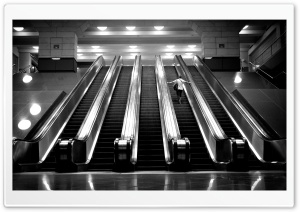 Subway Escalators HD Wide Wallpaper for 4K UHD Widescreen desktop & smartphone