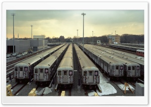 Subway Trains Depot HD Wide Wallpaper for 4K UHD Widescreen desktop & smartphone