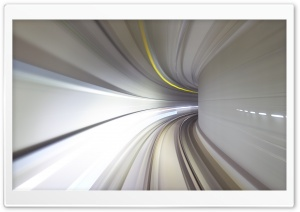 Subway Tunnel High Speed Motion Blur HD Wide Wallpaper for 4K UHD Widescreen desktop & smartphone