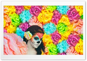 Sugar Skulls HD Wide Wallpaper for Widescreen
