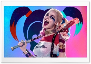 Suicide Squad Harley Quinn HD Wide Wallpaper for 4K UHD Widescreen desktop & smartphone