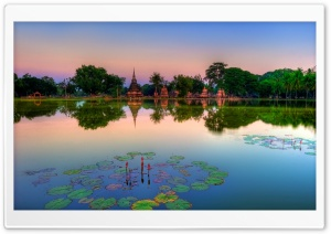 Sukhothai Historical Park, Thailand HD Wide Wallpaper for 4K UHD Widescreen desktop & smartphone