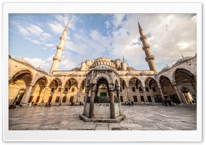 Sultan Ahmed Mosque, Istanbul, Turkey HD Wide Wallpaper for Widescreen