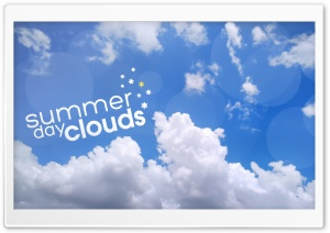 Summer Day Clouds Ultra HD Wallpaper for 4K UHD Widescreen desktop, tablet & smartphone