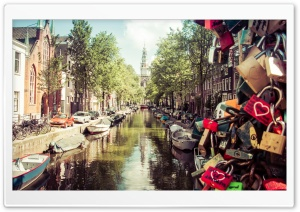 Summer in Amsterdam HD Wide Wallpaper for 4K UHD Widescreen desktop & smartphone