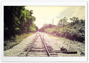 Summer Rail Road HD Wide Wallpaper for Widescreen