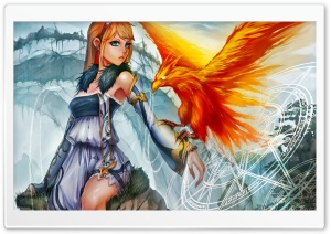 Summon Phoenix HD Wide Wallpaper for Widescreen