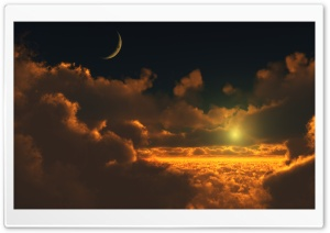 Sun Above Clouds HD Wide Wallpaper for Widescreen