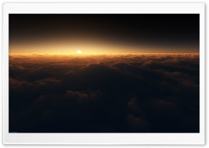Sun Above The Clouds HD Wide Wallpaper for Widescreen